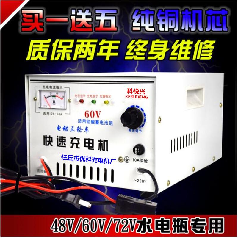 电动车充电机水电瓶蓄电池组48v60v72v速充电器