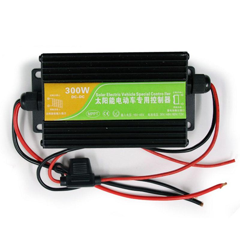 MPPT升压电动车改装太阳能冲充电器 铅酸锂电300W