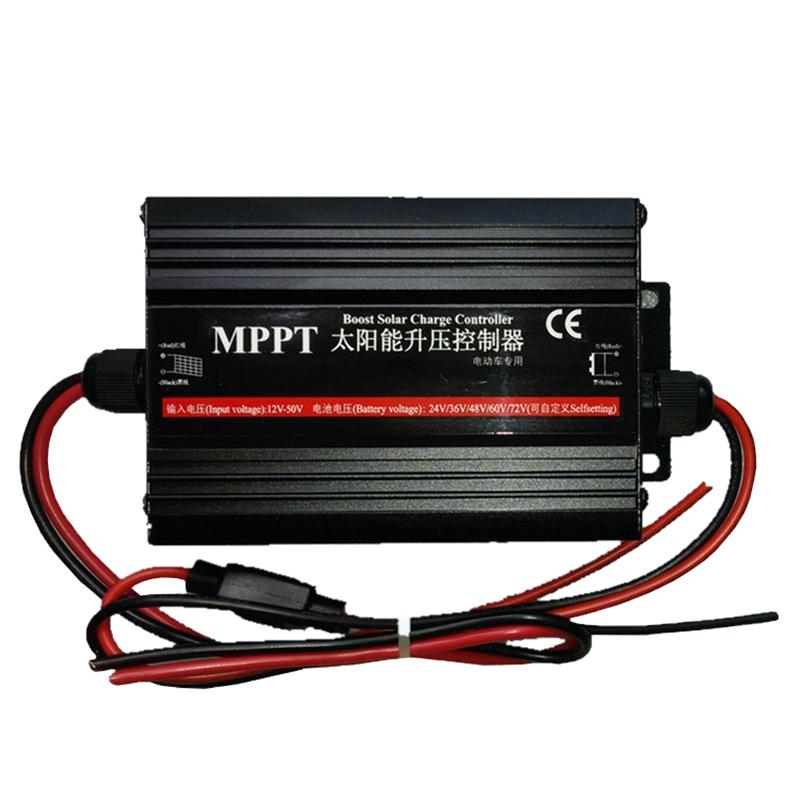 太阳能控制器MPPT升压光伏发电板 电动车电瓶车充电器