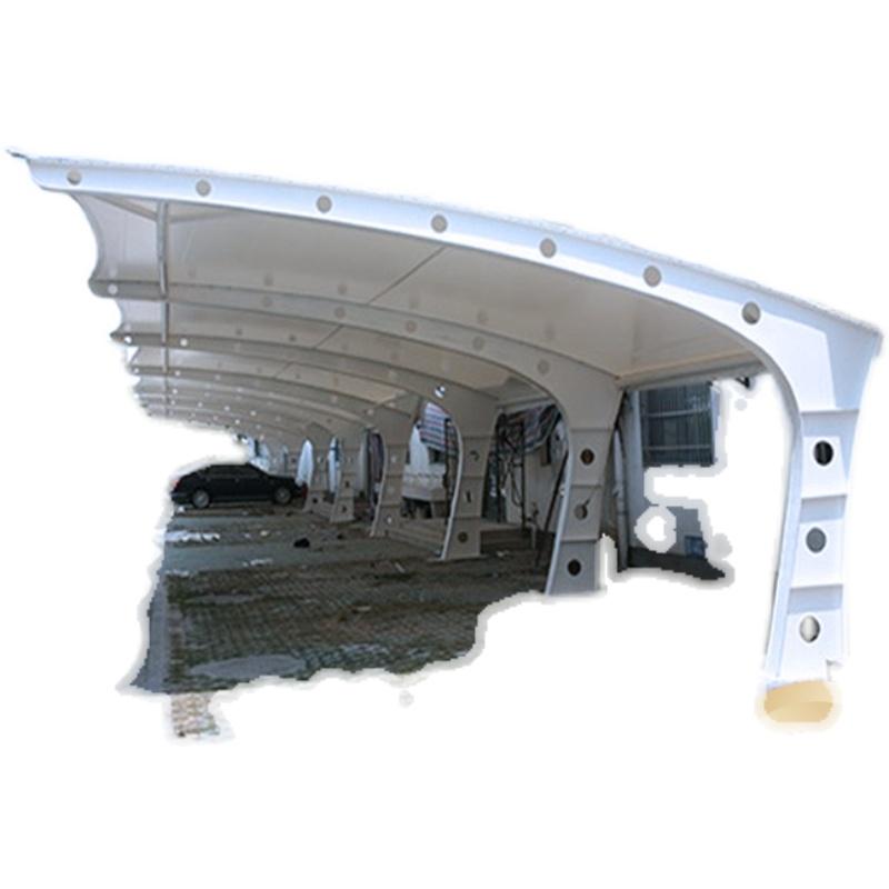 膜结构车棚停车棚张拉膜充电桩汽车棚遮阳雨棚钢结构电动自行车棚