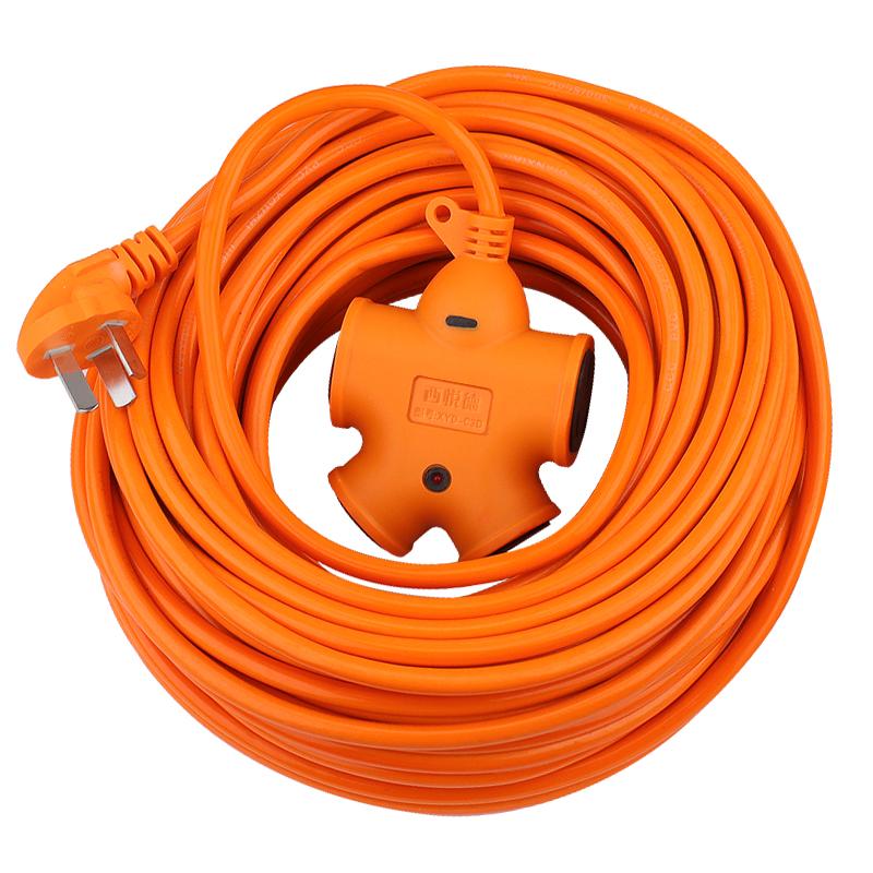 电动车充电延长线插排插座 多功能带线地拖插接线板